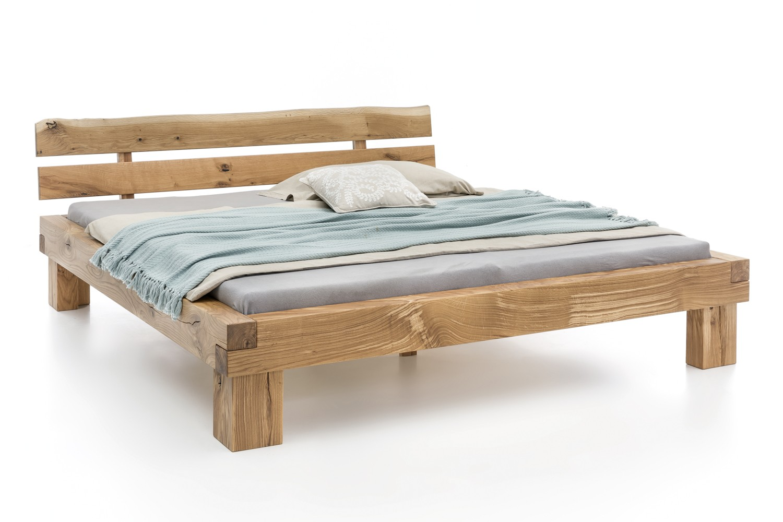 massivholzbett boston balkenbett in wildeiche 140x200 ebay. Black Bedroom Furniture Sets. Home Design Ideas