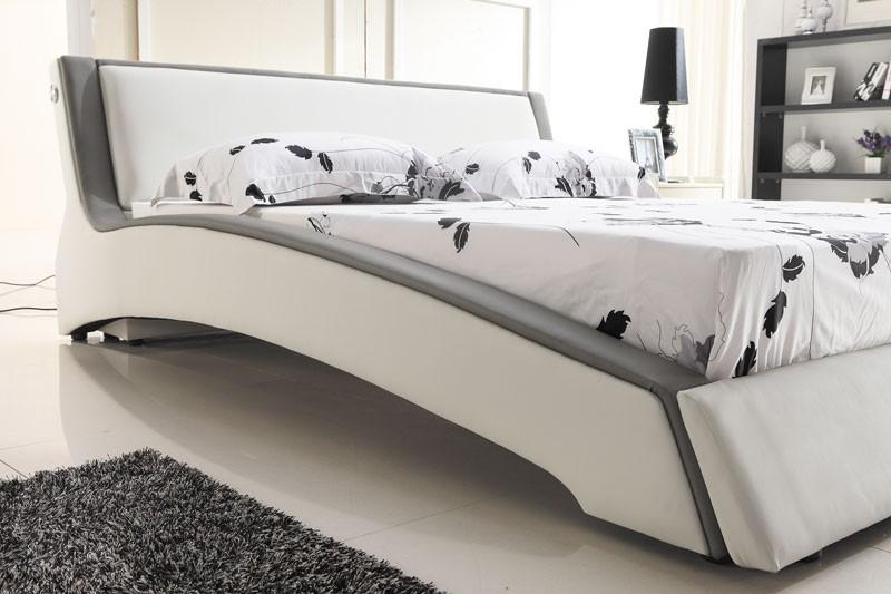Designer polsterbett lederbett doppelbett bettgestell for Bettgestell 200x200